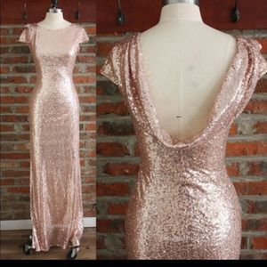 Rose Gold Sequenced Dress